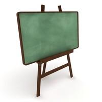 chalk board 3d max