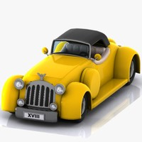 Cartoon Classic Car