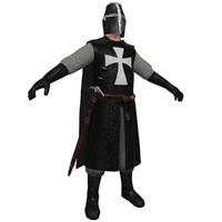medieval templar 3d model