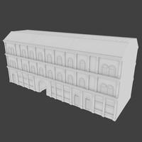 building facades 3d obj