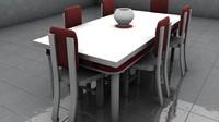 3d modern dinning table model