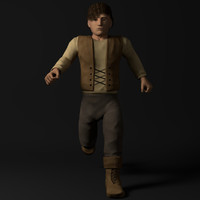 3d rigged clothing model
