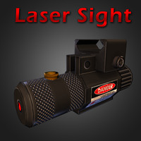 laser sight rifle 3d 3ds