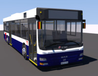3d model man lions city bus