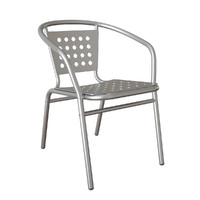 3d max outdoor aluminium arm chair