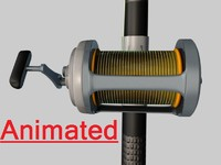 c fishing rod reel 3d c4d