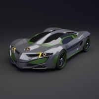 3d model concept car futuristic