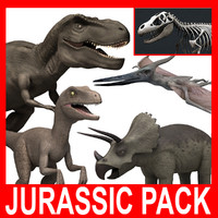 Jurassic Pack (5 Rigged Models)