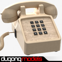 3d model traditional corded phone