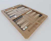 3d model of backgammon modern settings
