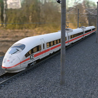 3d speed train ice3 model