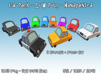 car pack toon 3d model