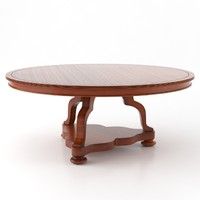 classic dining table 3d model