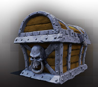 zbrush pirate treasure chest 3d model