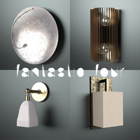 3d model different wall lights