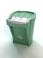 3d model of recycle bin
