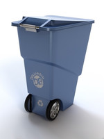 3d recycling bin