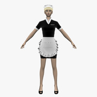 maid girl 3d 3ds