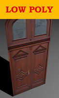 free door architectural visualisation 3d model