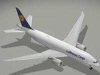 3d model boeing 777-200 lufthansa cargo