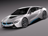 bmw i8 coupe 3d c4d