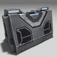 3d science fiction barrier model