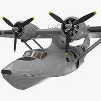 3ds max consolidated pby catalina flying
