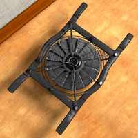 cpu fan ventilator 3d model