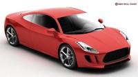 generic sports car 3d model