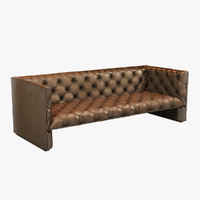 Leather Sofa (Brown)