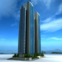 marina square towers 3d 3ds