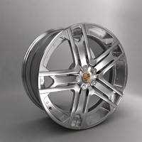 porsche kahn r22 car alloy 3d model