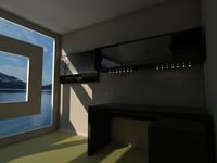 galant wall cabinet desk 3d dwg