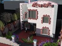 3d model villa saloon