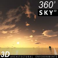 Sky 3D Sunset 040