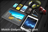 3d model mobile gadgets pack phone