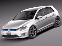 3d model of 2015 volkswagen golf