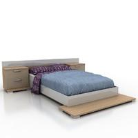 bed materials 3d obj