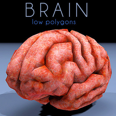 brain low poly