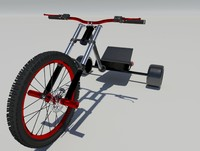 drift trike bike 2 3d model