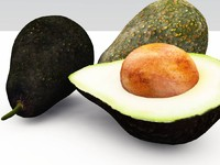 3d avocado vue model