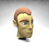 cartoon head 3d max