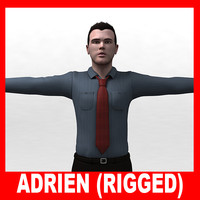 Adrien (Dressed and naked) (Rigged)