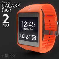 3d samsung galaxy gear 2 model