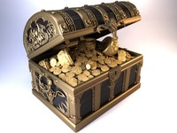 3d model treasure chest objs
