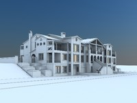 villa holiday 3d max