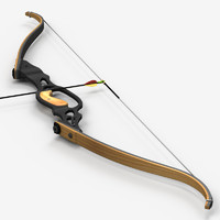 maya re-curve bow arrow
