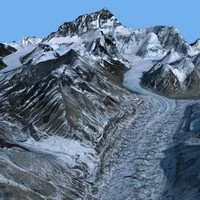 3d mount everest model