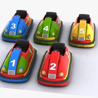 Cartoon Bumper Cars