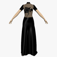 3ds max evening dress female mannequin